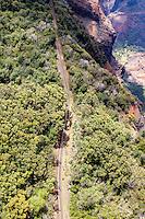 An aerial view of Waimea Canyon Drive, Kaua'i