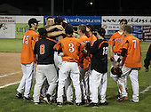 Notre Dame Fighting Irish of Batavia varsity baseball against the Lyndonville Tigers during the Section V Championship game at Dwyer Stadium on June 3, 2011 in Batavia, New York.  (Copyright Mike Janes Photography)