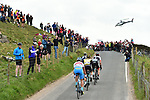 The breakaway group Jonathan McEvoy Madison Genesis, Dexter Gardias Bike Channel Canyon, Peter Williams One Pro Cycling, Gatis Smukulis Delko Marseille Provence KTM and Pieter Weening Roompot-Nederlandse Loterij climb the C&ocirc;te de Silsden during Stage 3 of the Tour de Yorkshire 2017 running 194.5km from Bradford/Fox Valley to Sheffield, England. 30th April 2017. <br /> Picture: ASO/P.Ballet | Cyclefile<br /> <br /> <br /> All photos usage must carry mandatory copyright credit (&copy; Cyclefile | ASO/P.Ballet)