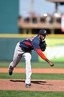 Boston Red Sox pitcher Miguel Celestino (75) during a Spring Training game against the Pittsburgh Pirates on March 12, 2015 at McKechnie Field in Bradenton, Florida.  Boston defeated Pittsburgh 5-1.  (Mike Janes/Four Seam Images)