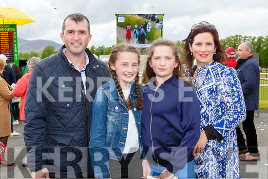 Michael Sheilds, Katie O'riordan, Lara Sheilds and Ann Moylan Killarney at the Killarney races on Sunday
