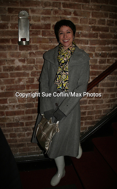 "On Opening Night Page Davis (Host Trading Spaces TLC) came to see her hubby Patrick Page who is in the play ""The Duchess of Malfi"" on February 23, 2010 at the Red Bull Theatre, New York City, NY. (Photos by Sue Coflin/Max Photos)"