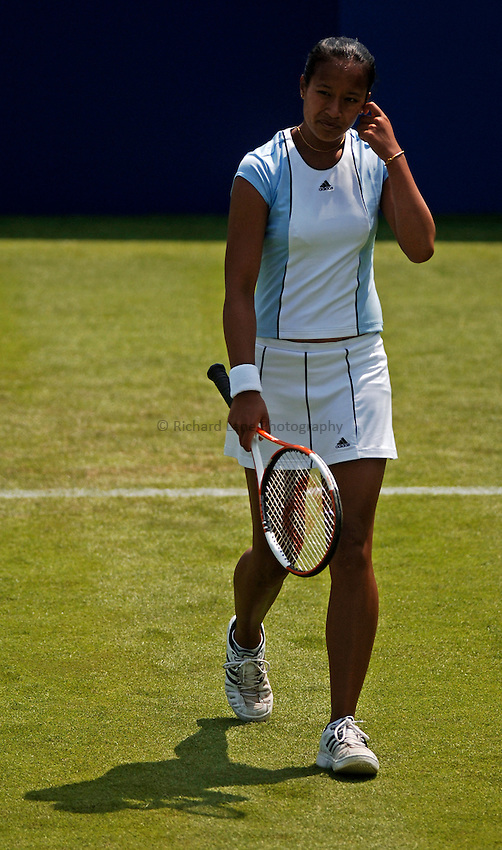 Photo: Glyn Thomas..DFS Classic Tennis, Edgbaston Priory Club, Birmingham. 07/06/2005...Great Britain's Anne Keothavong on her way to defeat against Laura Granville.