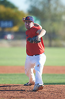 Dalton Taylor (54), from Kennewick, Washington, while playing for the Red Sox during the Under Armour Baseball Factory Recruiting Classic at Red Mountain Baseball Complex on December 28, 2017 in Mesa, Arizona. (Zachary Lucy/Four Seam Images)