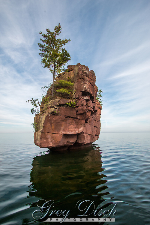 Balancing Rock is the largest sea stack along the northeast shore of Stockton Island in the Apostle Islands National Lakeshore.