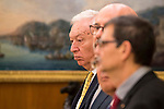 Foreign Minister and Cooperation of Spain Jose Manuel Garcia-Margallo during royal audience with the Prime Minister of the republic of Tunisia Habib Essid at Zarzuela Palace in Madrid, October 27, 2015. <br /> (ALTERPHOTOS/BorjaB.Hojas)