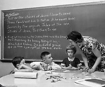 Pittsburgh PA:  View of Sunday School classes at the First Lutheran Church of Pittsburgh 1958.
