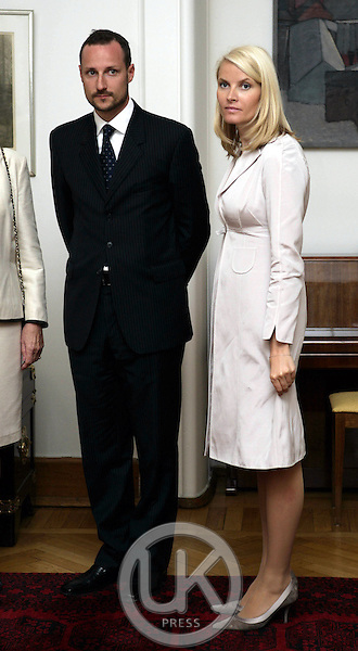 Crown Prince Haakon & Crown Princess Mette-Marit of Norway's three-day visit to Poland..Visit to the Polish Deputy Prime Ministers office in Warsaw.