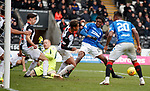 03.11.2018: St Mirren v Rangers: Ovie Ejaria's shot is cleared on the line