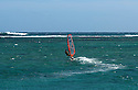 Windsurfing at Le Morne in Mauritius.