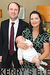BAPTISM DAY: Baby Sean Moriarty pictured with his parents Kieran and Natalie, Kenmare, as they celebrated Sean's christening in Holy Cross Church, Kenmare, and after to a reception in the Brook Lane Hotel, with godparents Lydia Murphy and Sean Moriarty, family and friends.