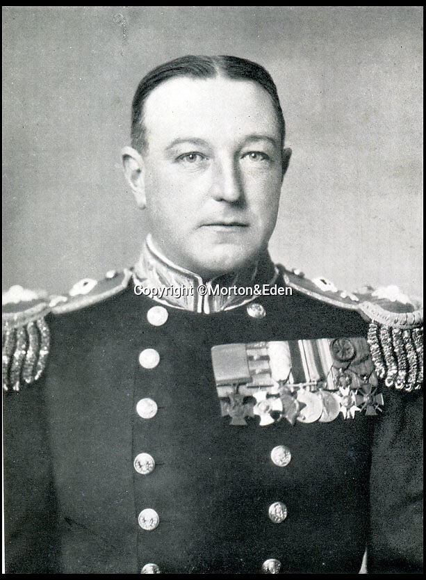 BNPS.co.uk (01202 558833)Pic: Morton&Eden/BNPS<br /> <br /> Admiral Gordon Campbell.<br /> <br /> The Victoria Cross won by a Royal Navy captain who deliberately allowed his ship to be torpedoed so he could lure a German U-boat close enough to sink it has sold for a world record £840,000 today.<br /> <br /> After HMS Farnborough had been struck and badly damaged, Vice Admiral Gordon Campbell told some of his crew to look panicked and abandon ship.<br /> <br /> The German captain of U-83 observed the 'emergency' through his periscope and steered the submarine to within 30ft of the ship to finish it off and pick up any survivors.<br /> <br /> At that moment Admiral Campbell gave the order for his remaining crew to open up the ship's hidden guns, firing off 45 shells at point black range.<br /> <br /> The officer's VC were sold by auctioneers Morton and Eden.