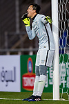 Kitchee Goalkeeper Wang Zhenpeng talks with his teammates during their AFC Champions League 2017 Playoff Stage match between Ulsan Hyundai FC (KOR) vs Kitchee SC (HKG) at the Ulsan Munsu Football Stadium on 07 February 2017 in Ulsan, South Korea. Photo by Chung Yan Man / Power Sport Images