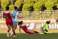 Boyds, MD - Saturday June 03, 2017: Arielle Ship, Lydia Williams during a regular season National Women's Soccer League (NWSL) match between the Washington Spirit and Houston Dash at Maureen Hendricks Field, Maryland SoccerPlex.