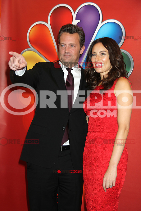 Matthew Perry and Laura Benanti at NBC's Upfront Presentation at Radio City Music Hall on May 14, 2012 in New York City. © RW/MediaPunch Inc.