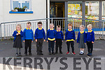 Pupils from Scoil Cheann Tra Róise, Éamonn, Culann, Cian, Padraig, Joey, Isabel and Stephen who started school this year.