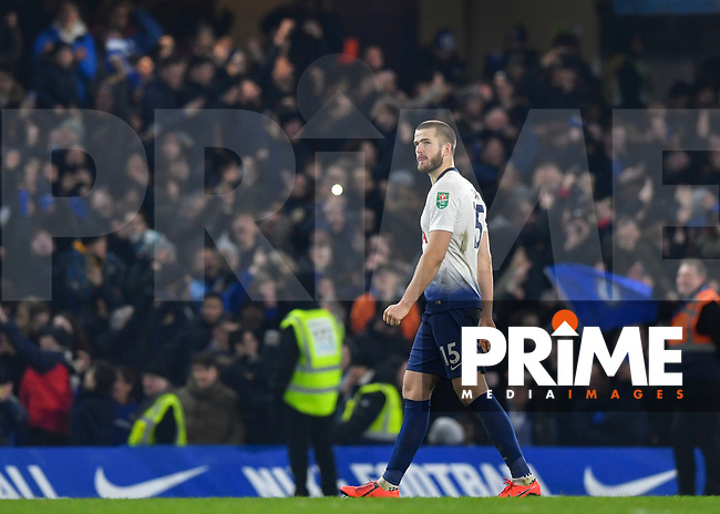 Eric Dier of Tottenham Hotspur looks dejected during the Carabao Cup Semi-Final 2nd leg match between Chelsea and Tottenham Hotspur at Stamford Bridge, London, England on 24 January 2019. Photo by Vince  Mignott / PRiME Media Images.
