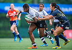 Fiji vs Japan during the Day 1 of the IRB Women's Sevens Qualifier 2014 at the Skek Kip Mei Stadium on September 12, 2014 in Hong Kong, China. Photo by Aitor Alcalde / Power Sport Images