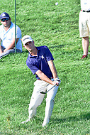 Bethesda, MD - July 1, 2018: Kevin Streelman hits a chip shot out of the grass on 17 during final round of professional play at the Quicken Loans National Tournament at TPC Potomac at Avenel Farm in Bethesda, MD.  (Photo by Phillip Peters/Media Images International)