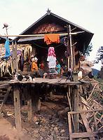 Laos, Luang Namtha Province, Ban Nammat Gao village..Traditional Akha house..Photo by Kees Metselaar, 2003
