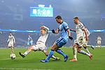 Edin Dzeko of Manchester City in action - Manchester City vs. CSKA Moscow - UEFA Champions League - Etihad Stadium - Manchester - 05/11/2014 Pic Philip Oldham/Sportimage