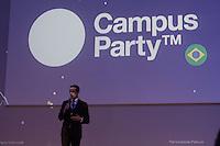 """SÃO PAULO, SP. 05.02.2015 -  CAMPUS PARTY PALESTRAS MATTEO ACHILLI - Matteo Achilli, considerado """"Zuckerberg italiano"""", aos 22 anos, criou o Egomnia, portal que reúne candidatos atrás de reposicionamento no mercado e empresas que estão oferecendo vagas. O portal já possui 330 mil membros e 8 mil empresas cadastradas em só na Itália. durante palestra na oitava edição da Campus Party na tarde desta quinta-feira, (4). (Foto: Renato Mendes / Brazil Photo Press)"""