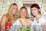 Sisters Debra, Claire and Maura Spillane Kilcummin at the Kerry All Stars ball in the Malton Hotel Killarney on Friday night