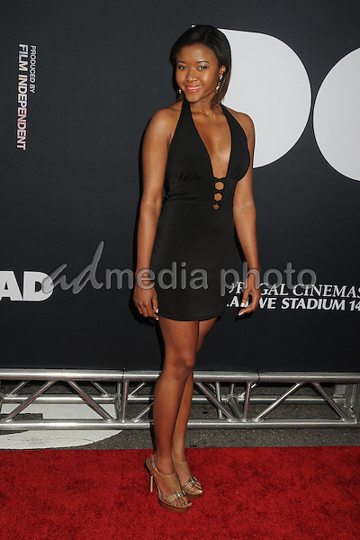 "8 June 2015 - Los Angeles, California - Amira Lumbly. LA Film Festival 2015 Premiere of ""Dope"" held at Regal Cinemas L.A. Live. Photo Credit: Byron Purvis/AdMedia"