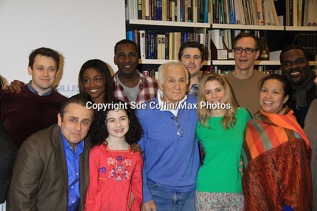 """Rehearsals for Ragtime starring One Life To Live Kerry Butler """"Claudia Reston"""" (green), Dick Latessa (Edge of Night) (blue), Matt Cavenaugh (also As The World Turns """"Adam Munson"""") (third left back), All My Children Norm Lewis """"Keith McLean"""" & now Scandal (plaid), As The World Turns Lea Salonga """"Lien Hughes"""" (multi), Young and the Restless Howard McGillan """"Snapper's brother - Greg Foster"""" (back R) and Lilla Crawford (little), Bk: Michael Arden, Patina Miller on February 11, 2013 for a concert at Avery Fisher Hall, New York City, New York on Monday February 18, 2013. (Photo by Sue Coflin/Max Photos)"""