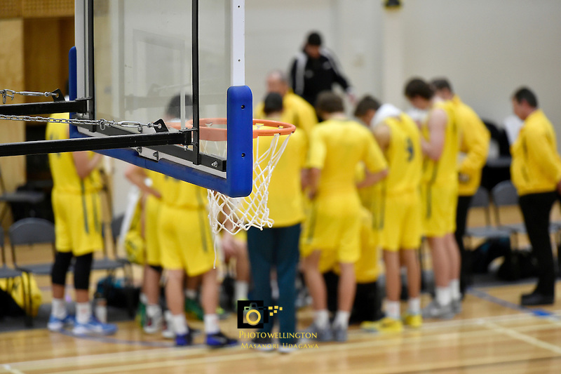 Action from the FIBA Oceania Under 16s Championship Tournament - New Caledonia v Australia at St Pat's Silverstream, Upper Hutt, New Zealand on Monday 17 August 2015.<br /> Photo by Masanori Udagawa. <br /> www.photowellington.photoshelter.com.