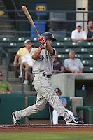 Peter Hissey #10 of the Salem Red Sox at bat during a game against the Myrtle Beach Pelicans on May 25, 2011 at BB&T Coastal Field in Myrtle Beach, South Carolina.
