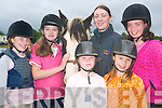 HORSE PLAY: Children who attended the summer camp at the Listowel Equestrian Centre on Thursday were Tamara Kirby, Duagh, Dearbhla McGuire, Navan, Louise Ryan, Kilmoyley, Katie Quilter, Irremore and Laoise McDermott, Navan with instructor Emer O'Connor and Joshua the horse.   Copyright Kerry's Eye 2008