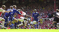 Premiership Football - Arsenal v Leicester City:.2003/04 Season - 15/05/2004  [Record breaking Season undefeated].Kolo Toure attacks the Leicester goal.[Credit] Peter Spurrier Intersport Images