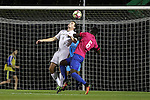 21 October 2016: Notre Dame's Matt Habrowski (4) and Duke's Cameron Moseley (6). The Duke University Blue Devils hosted the University of Notre Dame Fighting Irish at Koskinen Stadium in Durham, North Carolina in a 2016 NCAA Division I Men's Soccer match. Duke won the game 2-1 in two overtimes.
