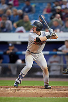 Scranton/Wilkes-Barre RailRiders center fielder Billy McKinney (39) at bat during a game against the Syracuse Chiefs on June 14, 2018 at NBT Bank Stadium in Syracuse, New York.  Scranton/Wilkes-Barre defeated Syracuse 9-5.  (Mike Janes/Four Seam Images)