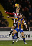 Harry Chapman of Sheffield Utd and Gary Deegan of Shrewsbury during the English League One match at the Bramall Lane Stadium, Sheffield. Picture date: November 19th, 2016. Pic Simon Bellis/Sportimage