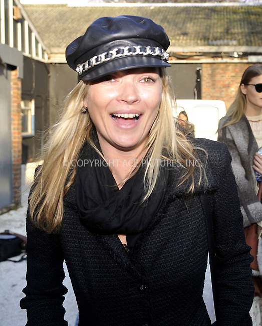 WWW.ACEPIXS.COM . . . . .  ..... . . . . US SALES ONLY . . . . .....February 2010, London....Kate Moss during London Fashion Week in February 2010 in London....Please byline: FAMOUS-ACE PICTURES... . . . .  ....Ace Pictures, Inc:  ..tel: (212) 243 8787 or (646) 769 0430..e-mail: info@acepixs.com..web: http://www.acepixs.com