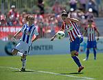 Atletico de Madrid Femenino's Esther Gonzalez (r) and Real Sociedad's Paola Soldevilla during Liga Femenina Endesa - Women League match. May 20,2017. (ALTERPHOTOS/Inma Garcia)