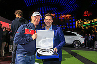 Richard McEvoy with his at the Porsche Urban Golf Challenge in the Reeperbahn the famous Red light district in Hamburg ahead of the Porsche European Open at Green Eagles Golf Club, Luhdorf, Winsen, Germany. 03/09/2019.<br /> Picture Fran Caffrey / Golffile.ie<br /> <br /> All photo usage must carry mandatory copyright credit (© Golffile | Fran Caffrey)