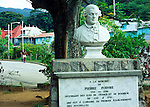Statue of Pierre Poivre, Peter Pepper, in Victoria, Mahe, Seychelles