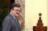 Roma, 17 Febbraio 2012.Palazzo Chigi.Incontro con  il Ministro delle finanze del Canada, Jim Flaherty
