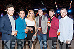 Sean Dukes, Johnathon Culloty, Claire Jordan, Alan Leahy, Gavin Lynch and Alan Cunningham, all from Tralee, pictured at  the Austin Stacks Strictly Come Dancing held in the Dome, Tralee on Saturday night