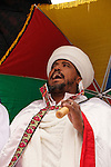 Israel, Jerusalem. A Jewish Ethiopian priest at the annual Sigd festival, November 2004<br />