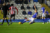 1st November 2017, St. Andrews Stadium, Birmingham, England; EFL Championship football, Birmingham City versus Brentford; Maikel Kieftenbeld of Birmingham City makes a great sliding tackle