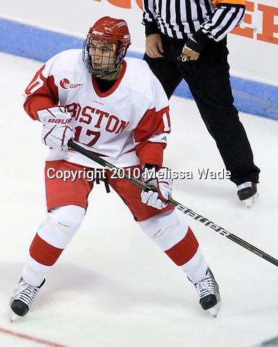 Matt Nieto (BU - 17) - The Boston University Terriers defeated the visiting University of Toronto Varsity Blues 9-3 on Saturday, October 2, 2010, at Agganis Arena in Boston, MA.