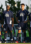 2 September 2007: Old Dominion's Ambane Emmanuel (CMR) (10) and David Horst (12). The University of North Carolina Tar Heels tied the Old Dominion University Monarchs 1-1 at Fetzer Field in Chapel Hill, North Carolina in an NCAA Division I Men's Soccer game.