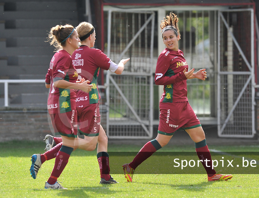 Club Brugge Dames - Dames Zulte Waregem : Pauline Crammer scoort de aansluitingstreffer.foto DAVID CATRY / Vrouwenteam.be