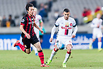 Sydney Wanderers Forward Jaushua Sotirio (R) fights for the ball with FC Seoul Midfielder Kim Chiwoo (L) during the AFC Champions League 2017 Group F match between FC Seoul (KOR) vs Western Sydney Wanderers (AUS) at the Seoul World Cup Stadium on 15 March 2017 in Seoul, South Korea. Photo by Chung Yan Man / Power Sport Images