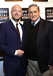 John Tiffany and Jim Nicola attends the 2018 New York Theatre Workshop Gala at the The Altman Building on April 16, 2018 in New York City