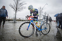 Yoann Offredo (FRA/Wanty Groupe-Gobert) pre-race<br /> <br /> 1st Dwars door West-Vlaanderen 2017 (1.1)